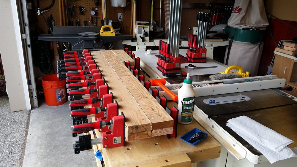 Rocker form glue-up.