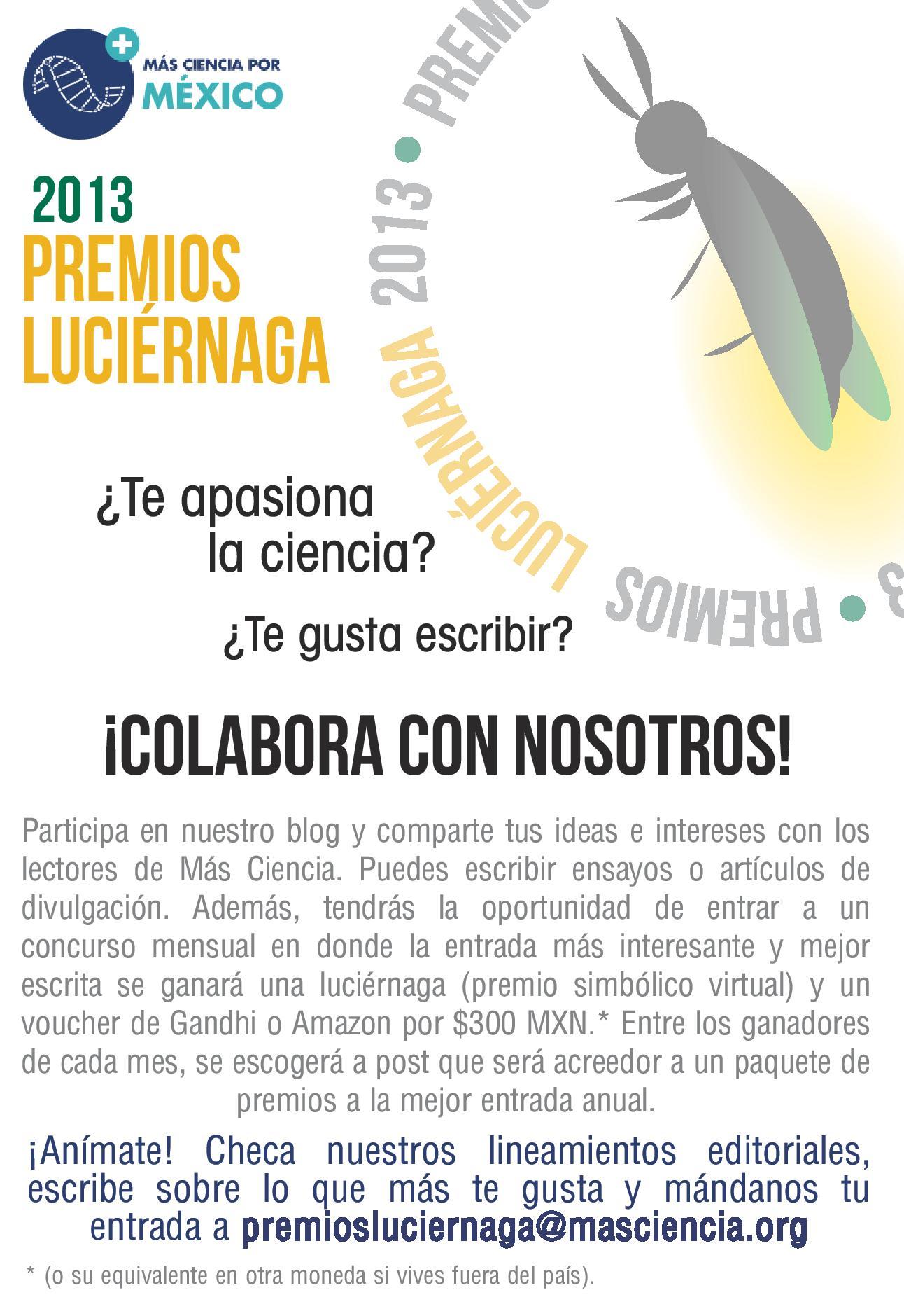 Premios Luciérnaga: para compartir la luz del conocimiento — Más ...