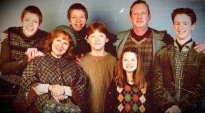 En la imagen vemos a la familia Weasley, de la serie de películas de Harry Potter. (Tomada de Tumblr).