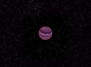 Una representación artística del planeta PSO J318.5-22 realizada por MPI/V. Ch. Quetz. Tomada de la nota fuente.
