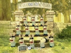 """El coro de conejos del videojuego de Ubisoft """"Rayman Raving Rabbids""""."""
