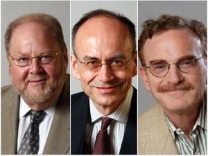 [Retratos de los tres galardonados este lunes, tomados de http://www.vista.no/. De izquierda a derecha: James E. Rothman, Thomas C. Südhof y Randy W. Schekman].