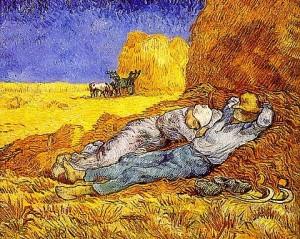 """""""La siesta"""", de Vincent van Gogh"""
