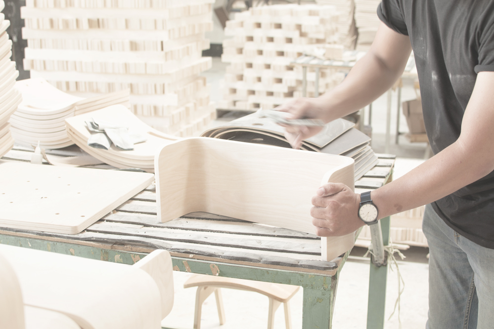 Plyconcept's workshop is where every piece of wood is worked on by hand.