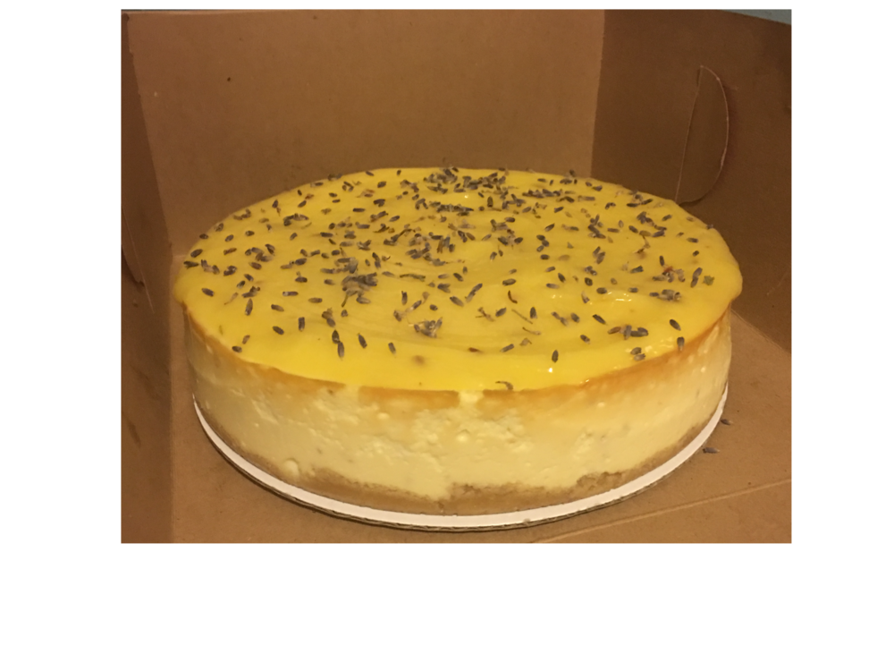 The Legendary Lemon-Lavender Curd Cheesecake