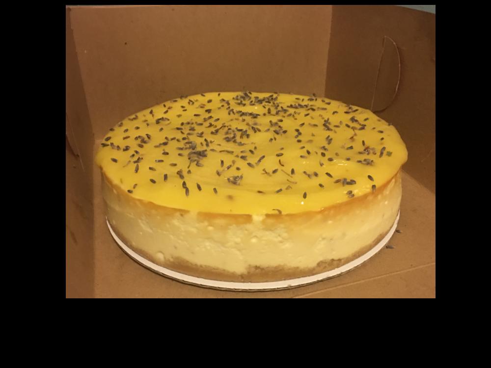 The Legendary Lemon-Lavender Curd Cheesecake