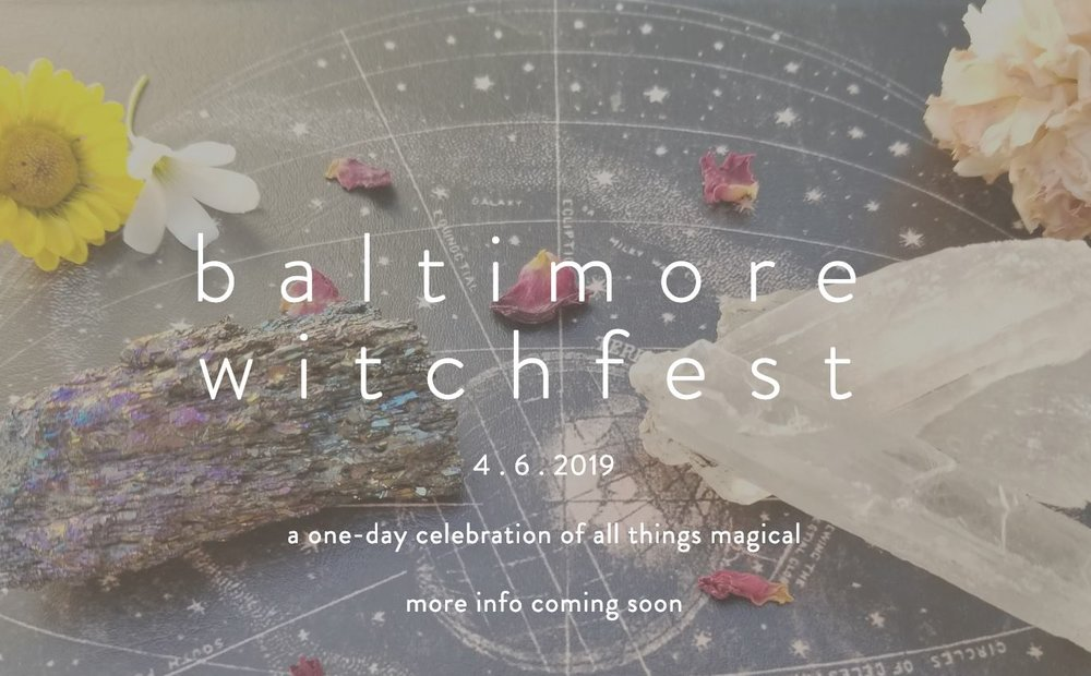A one-day celebration of all things magical  An opportunity to make magic and learn with other charmed beings in Charm City  A chance to support local artisans making items of magical and aesthetic significance  Priority Registration on sale February 16th   General Registration on sale March 1st  You can learn more about ticket sales at  www.baltimorewitchfest.com