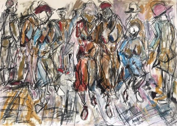 Crowded Women 70cm * 50cm 2016