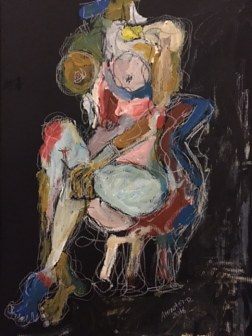 Woman on chair  48cm * 34cm 2016