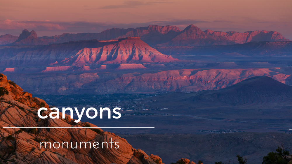 Canyons Monuments