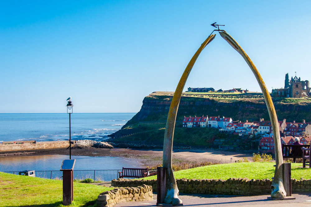 Whale bones, West Cliff, Whitby