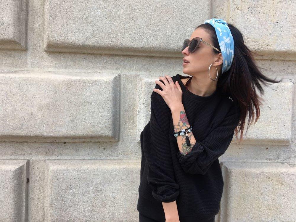 La Vida De RoseBelle blog - wearing Aura Stone Boho Bracelets