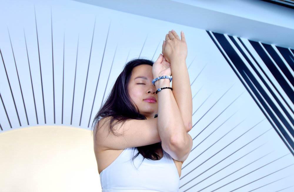 Toronto yogi wearing Aura bracelets
