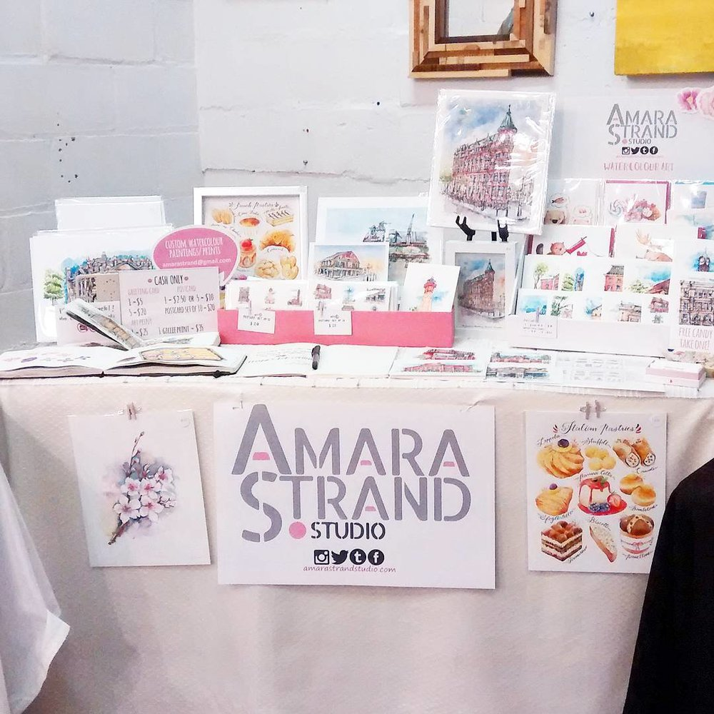 Amara Strand at the Pop-Up Shop