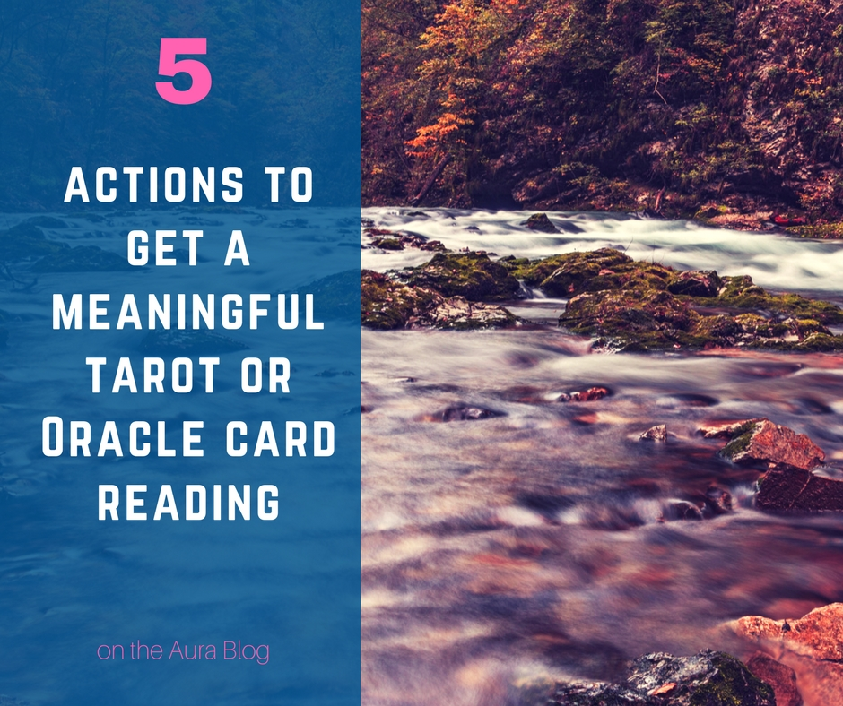 Having a meaningful tarot, oracle, or angel card reading