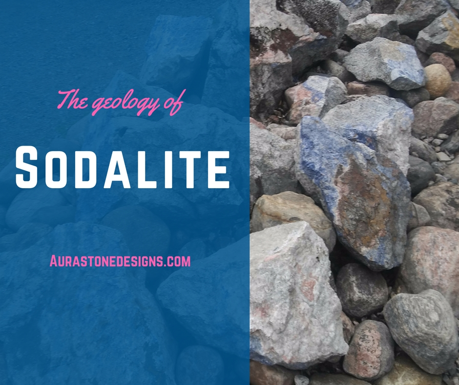The geology of sodalite - Sodalite is a light but relatively hard, rock-forming mineral. It was named byGlasgow Chemist, Professor Thomas Thomson, after its high sodium content. The Greek word for salt is soda and stone is lithos. It's high sodium content makes sodalite to be classified as a mineral, not a rock.In mineralogy, sodalite is a member of the feldspathoid minerals – which is a group of rare and unusual types of igneous rocks. Igneous rock is one of three main rock types and is derived from the Latin word ignis meaning fire. Igneous rock is formed through the cooling and solidification of magma or lava. Sodalite was created with the Canadian shield (see history below!).Colours can be white, gray, purple or green but the blue variety with white marbling or veins is the most familiar; the white splotches are calcite. The general chemistry formula for the sodalite group is Na4Al3Si3O12Cl, Sodium Aluminum Silicate Chloride (geology.com).Cool geology tidbit: Most sodalite will fluoresce orange under ultraviolet light. Which basically means that soadalite emits visible light when exposed to ultraviolet light – perfect for your next rave or festival!