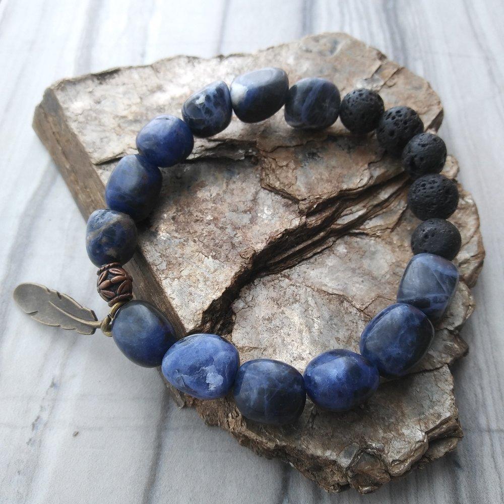 Sodalite bracelet by Aura