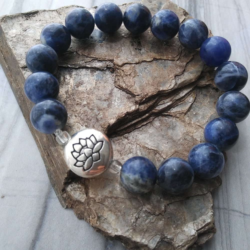 Sodalite gemstone yoga bracelet by Aura