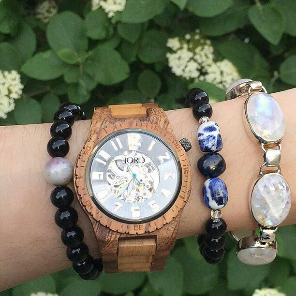 Stack up your gemstone bracelets