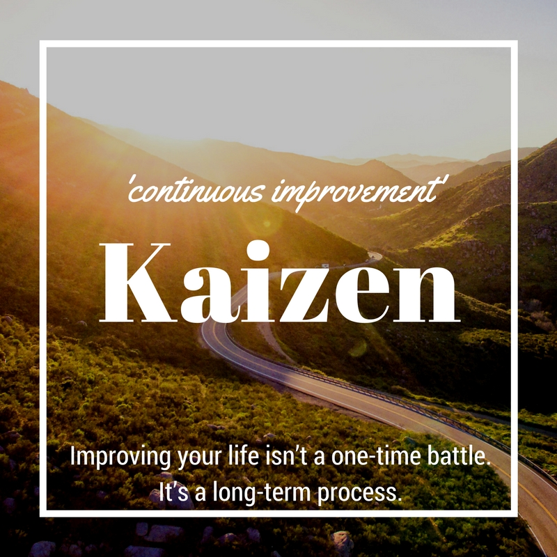 Kaizen in your personal life - blog post on what it is and how you can put it to work for you today.