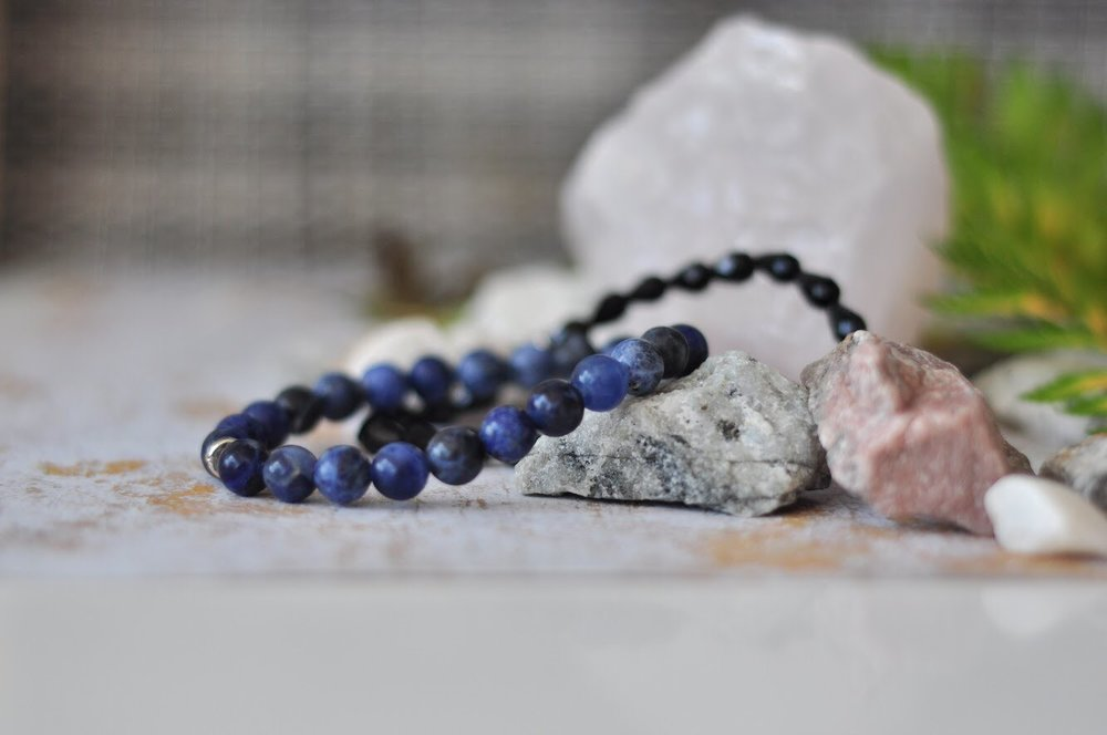 Aura natural gemstone bracelets