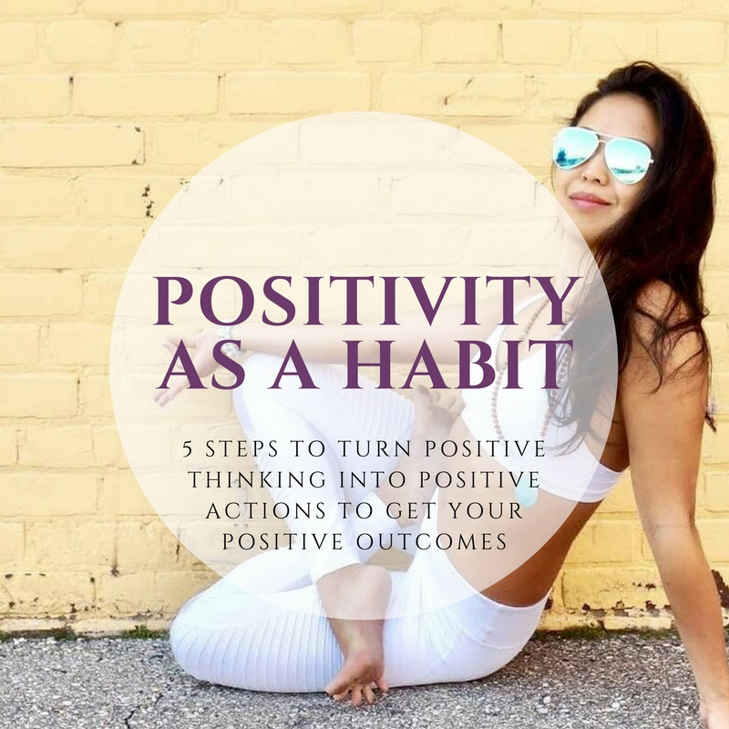 1. Positivity as a habit - I make positive thinking an active habit.  This can be difficult – as a lawyer I'm trained to think about all the horrible things that can happen… the worst case scenario.  But I don't stop there.  I don't hold onto the negative thoughts.  Acknowledge the worst case, acknowledge what is and is not in your control, and think of a positive outcome and possible solutions.  Its not blindly looking through the world with rose-colored glasses; it's a realistic visualization of what YOU can do to make things better.  This first step is what Jodie Lynn has written about in her blog post: 'Vibe Happy: 21 days to a more positive you'. It isn't about just thinking positive when you remember to, it's about really establishing this as a habit and personality trait.
