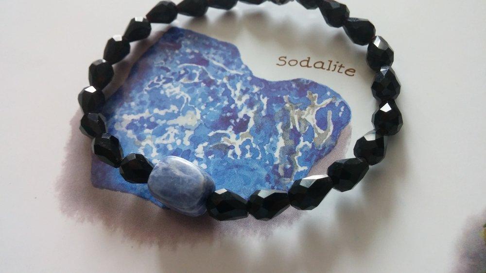 Aura bracelet in Sodalite