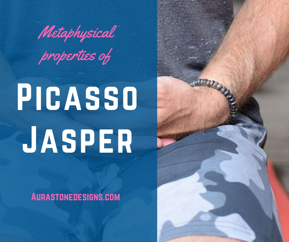 METAPHYSICAL PROPERTIES OF PICASSO JASPER - Reflect back on how Picasso Jasper is formed and you will not be surprised hat that it is known as the relationship and creativity transformation stone. The message from Picasso Jasper is to celebrate life, be creative, and have meaningful relationships! Jasper stones in general are known to be nurturing stones. They are said to support you in times of stress by bringing tranquility and wholeness into your being and absorbing negative energy. Picasso Jasper specifically is known as an aid in transforming your creativeness and transforming your relationship. This stone is said to attract like minded people who will become your loyal and trusted friends. It is also said to renew old friendships and bring extra energy to established romantic relationships. Picasso Jasper has a strong grounding and calming qualities the help bring emotional strength and self-discipline. It reminds us to celebrate and enjoy life. What a beautiful thing to bring to your relationships! Picasso Jasper is also good for  your creative energy by helping you breaking through creative blocks and old patterns. Reflect on the colours and patterns seen in each stone in your bracelet. Touch each one and reflect on each and every stone. For an extra boost, say one of the suggested affirmations  and you will find you get an extra creative boost! Now do something creative! Do you feel your creativity flow easier? Picasso Jasper is also associated with the sign of Leo. It is helpful for anxiety and stress, as it provides stability during times of change or transformation.