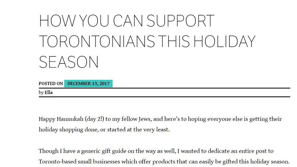 Ella's gift guide featuring Aura bracelets and other products from Toronto Canada brands