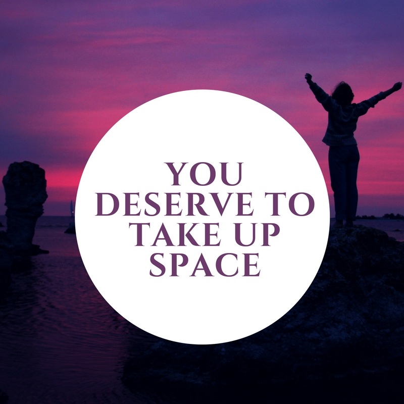 2. You deserve to take up space - Women are often use to putting others (partners, kids, bosses) ahead of their own needs.  We shrink into spaces; mindful we don't take up more than our seat on the subway. We may hide our flaws - both physical and character in nature. Yet in a room of supportive woman, the lesson that you deserve to take up space and should take up space is explicitly delivered again and again. Find your voice. Speak up – be heard! Make a loud exhale. Sigh. Take the room you need – stretch out on that yoga mat! Feel like doing a different yoga pose? – No problem; express yourself! A woman's circle allows you the space to be vulnerable; to be unapologetically yourself.