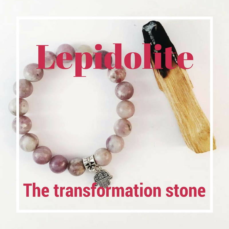Lepidolite - The Transformation Stone -  Multilayered just like you! This soft white and lilac-grey stone is set to calm  you and help you see that even in times of change, everything is going to turn out for the best.