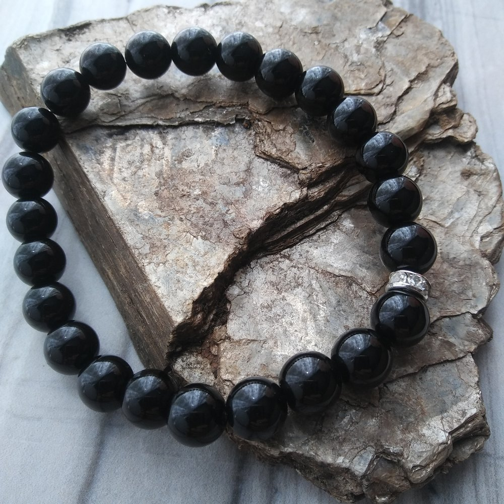 Black Onyx - the protection stone - Aura bracelet