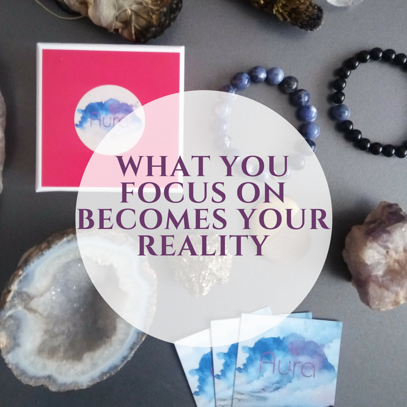 Each time you put on your Aura bracelet, say an affirmation. Tell the universe exactly what you want and how you want to feel.  -