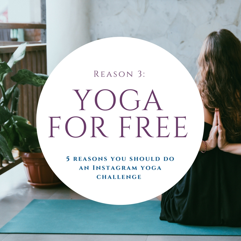 Yoga for free - The challenges are often lead by yoga instructors and experienced yogi. They will provide comments on your pose and offer tips in their posts. They will help remind you to warm up before doing the pose – something you may forget about!