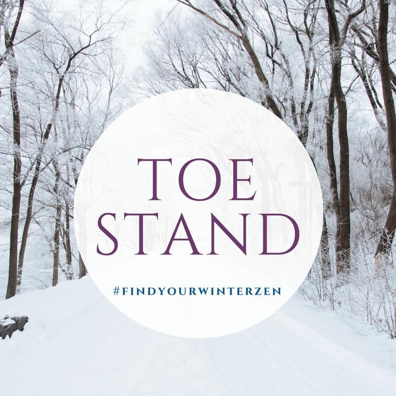 3. Toe stand pose -
