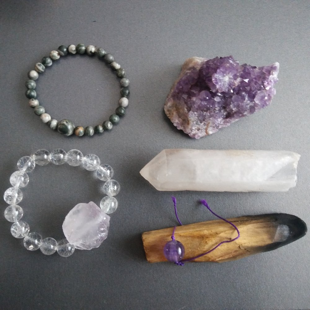 Cleanse and charge your crystals - As crystals energy become more mainstream, you might hear of people talking about cleansing, clearing, and charging their crystals and gemstones. What's this all about? Let's go over the basics of crystal energy, the different terms, and how you can easily put them into practice.