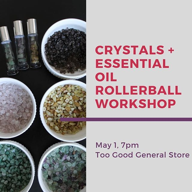 💎 Cystals + 💐 Essential Oils = one fun night of learning and creating. 💜 @aurastonedesigns Has teamed up with @holistic.vitality.yl to host a workshop were you will learn the basics of essential oils and magical world of crystals! You'll then be able to put that knowledge to work and make two of your very own rolerballs to take home. 👭 For my York Region, Ontario friends - click the link in our profile to sign up! May 1st, 7pm at @toogoodgeneralstore on @mainstreetunionville in Markham, Ontario. 🤗So excited to connect with some of you again in person...and for my friends globally, I will share a blog post and pictures afterwards! 🤗