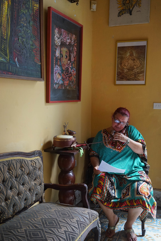 Carmen โฮสของเราที่คาซ่าในฮาวานา