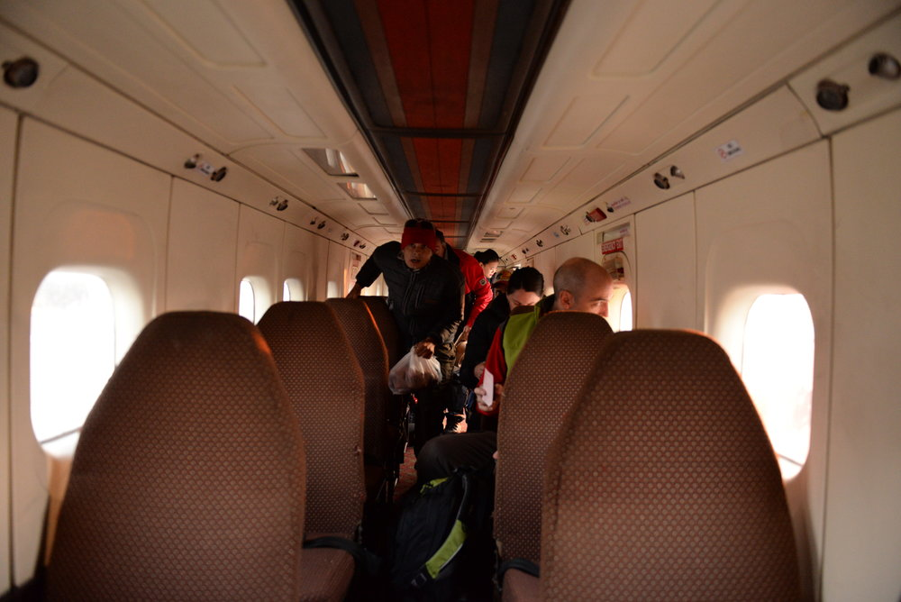 เครื่องบินเล็ก ขนาดราวกับรถบัสติดปีกนั่งได้ประมาณ30คน