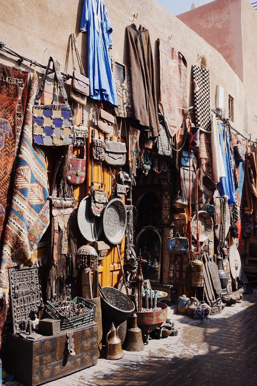 หน้าตาของร้านค้าใน Souk, Marrakesh