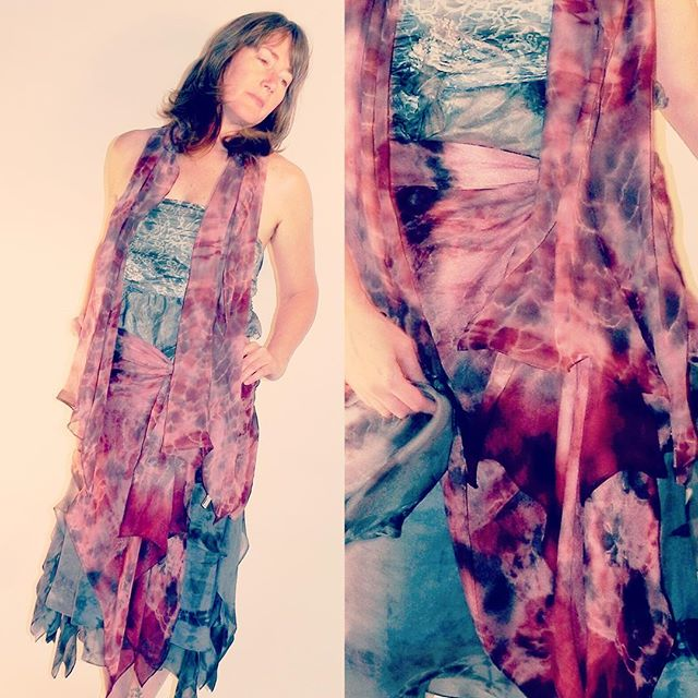 Flashing back to some more early Petal creations (2012)... these from resist-dyed silks. . #flashbackfriday #petalunacollection #designermaker #slowfashion #textile #handdyed