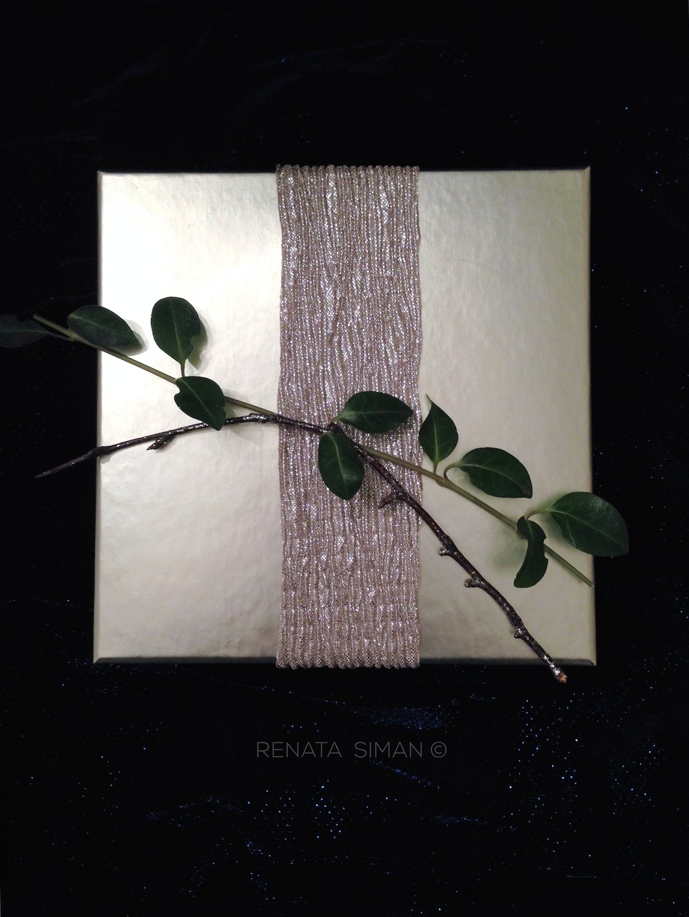 A decorative, brown glittery twig broke off from what I had as a home decor accessory in a vase. So why not add it here.