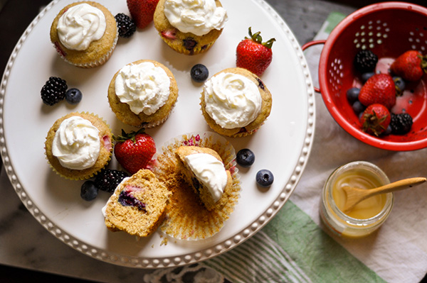 Berry Yogurt Parfait Whole Grain Muffins