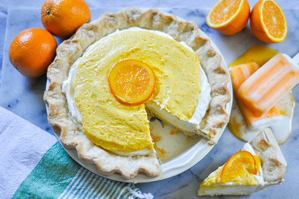 Orange Cream-sicle pie