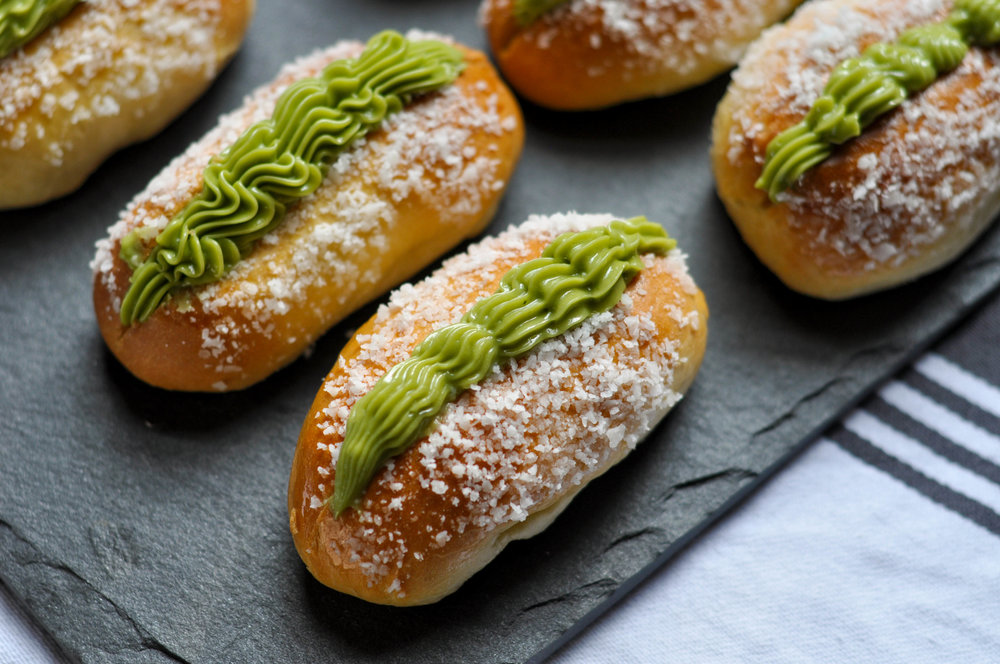 Coconut Green Tea Cream Buns_lined up.jpg