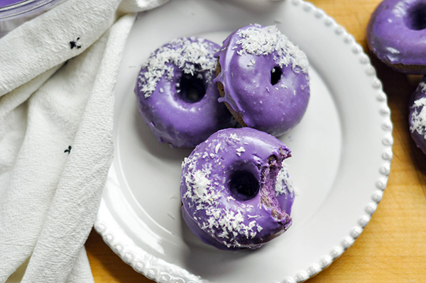 Ube Donuts with Coconut Glaze_three and bite-0186.jpg