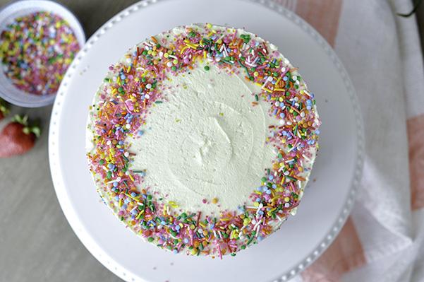 Strawberry Birthday Cake_full decorated top view.jpg
