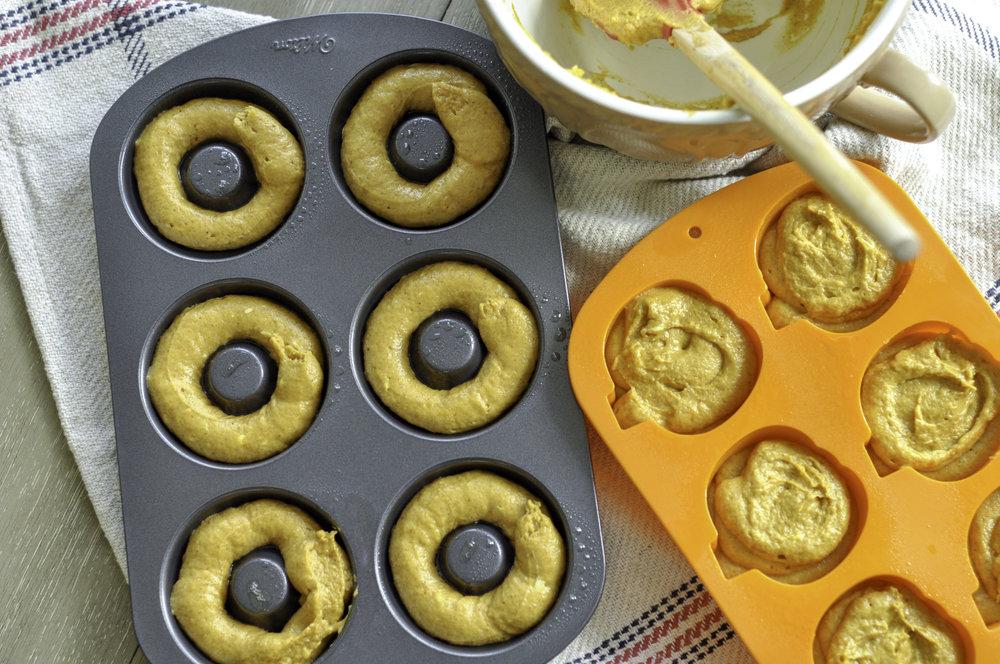 Nutmeg Glazed Pumpkin Donuts_batter in pan.jpg