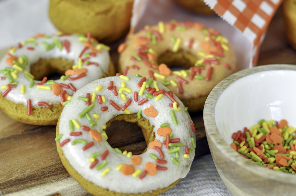 Nutmeg Glazed Pumpkin Donuts_three donut beauty.jpg