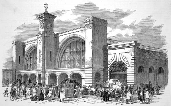 Drawing of an early King's Cross